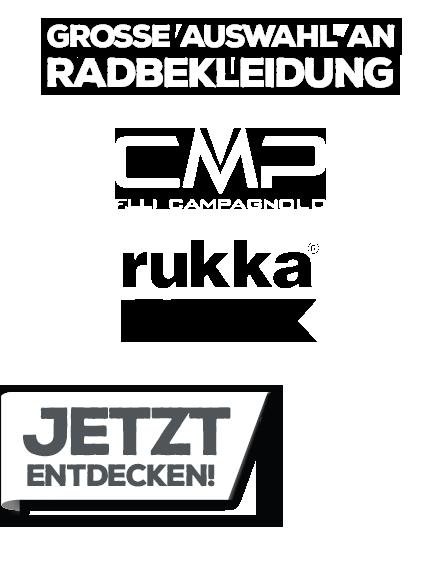 Große Auswahl an Radbekleidung von CMP und rukka.
